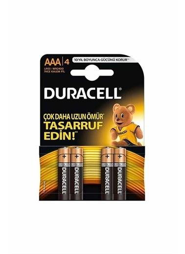 Duracell Duracell Dayanıklı 4'Lü Turbo Max Alkalin Aaa Ince Kalem Pil Renkli